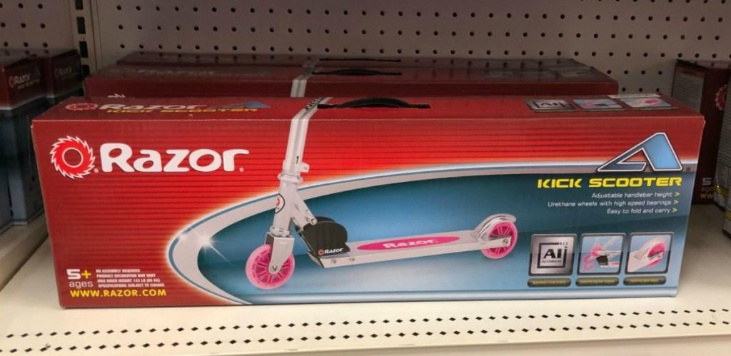 Razor Scooter on shelf at Target