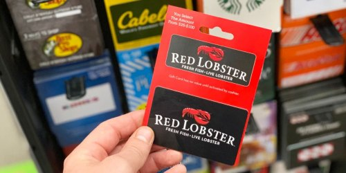 FREE $10 Red Lobster Coupon w/ $50 Gift Card Purchase   Great Last Minute Father's Day Gift Idea!