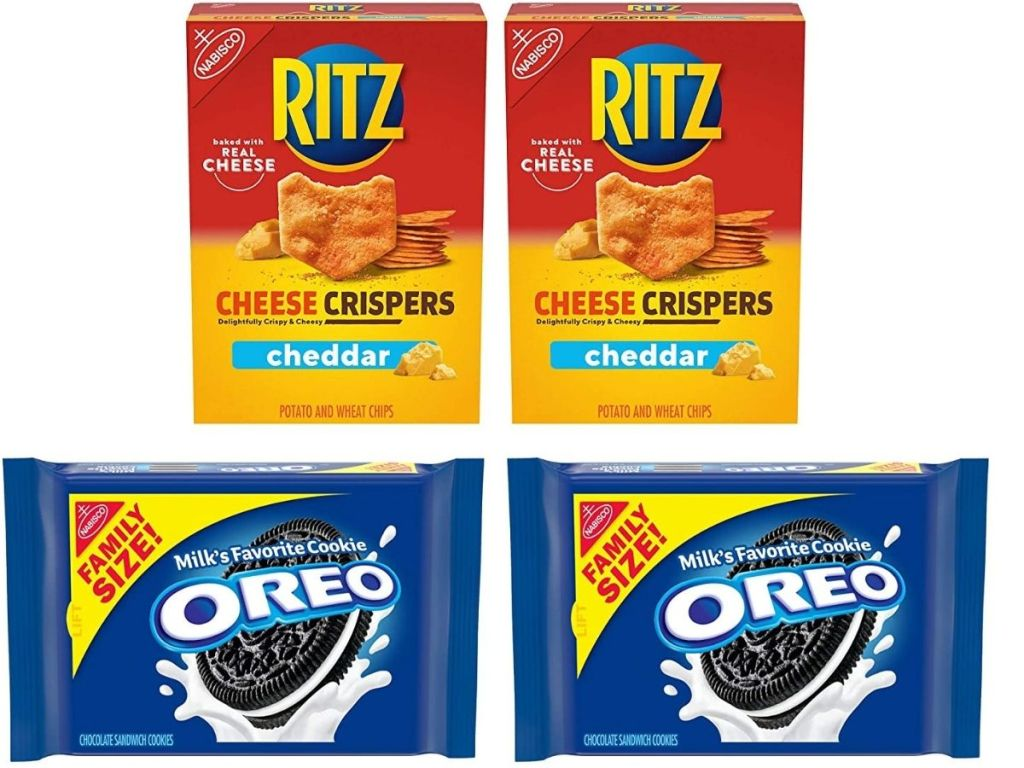 Two Boxes of Ritz Cheese Crispers and 2-Count Family Size Oreos