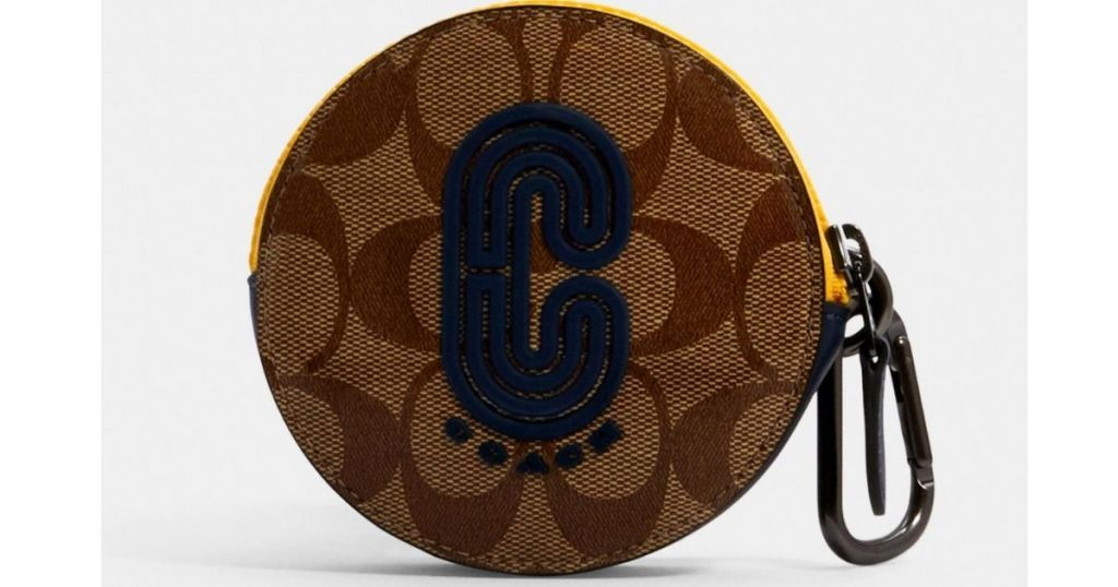 Coach Round Hybrid Pouch In Signature Canvas