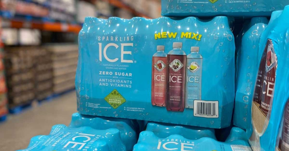 sparkling ice on pallet in store