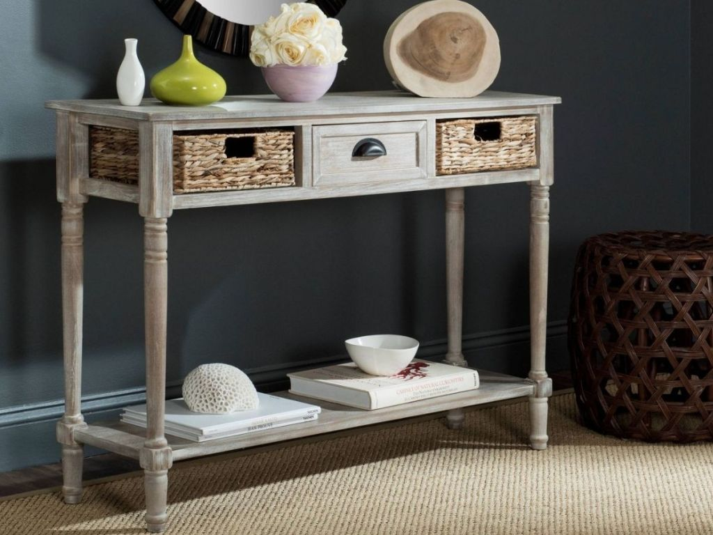 Entryway Table with storage drawers