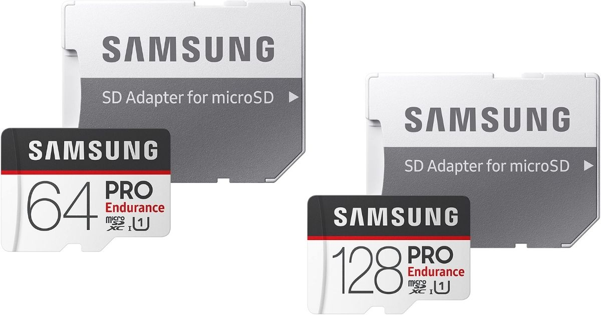 two Samsung Memory Cards