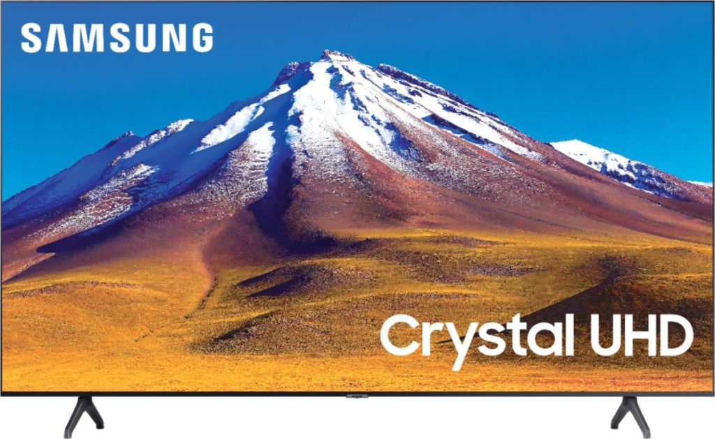 Samsung TV with a mountain displayed