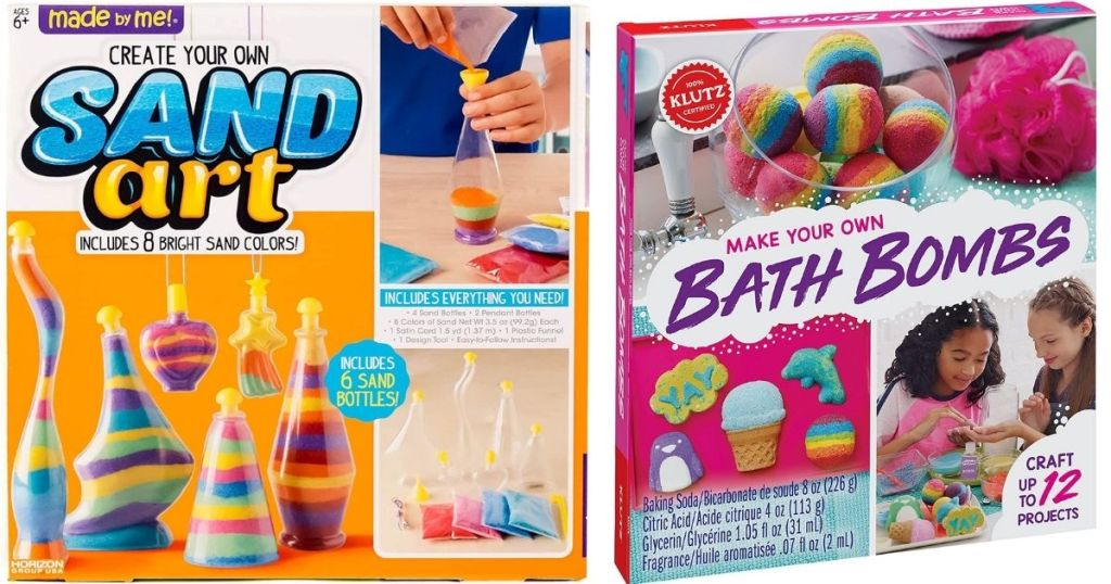 Sand Art and Make Your Own Bath Bomb activity kits