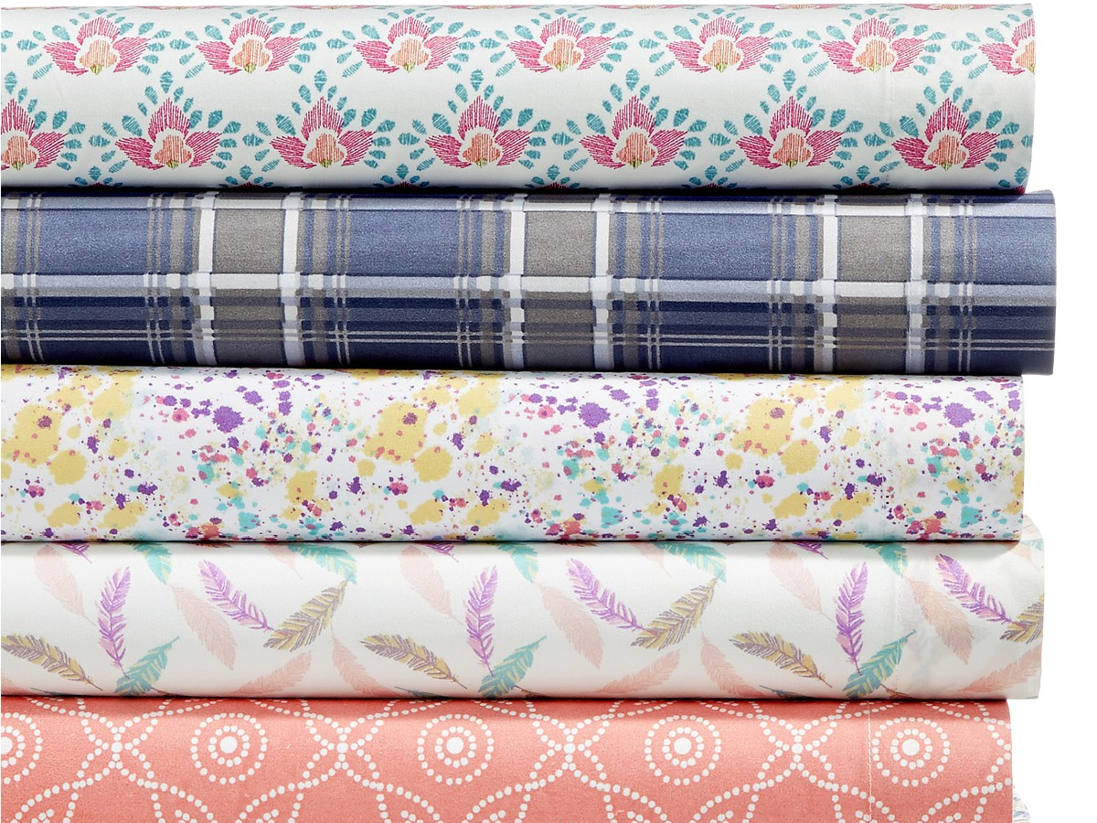 different patterned sheets