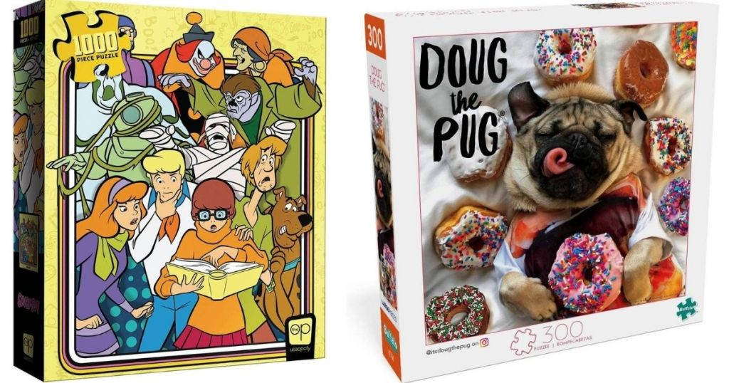Scooby Doo and Doug The Pug Puzzles