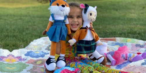Buy 1 Sharewood Forest Friend, Get 1 FREE | Each Plush Includes 2 Outfits That Fit 18″ Dolls