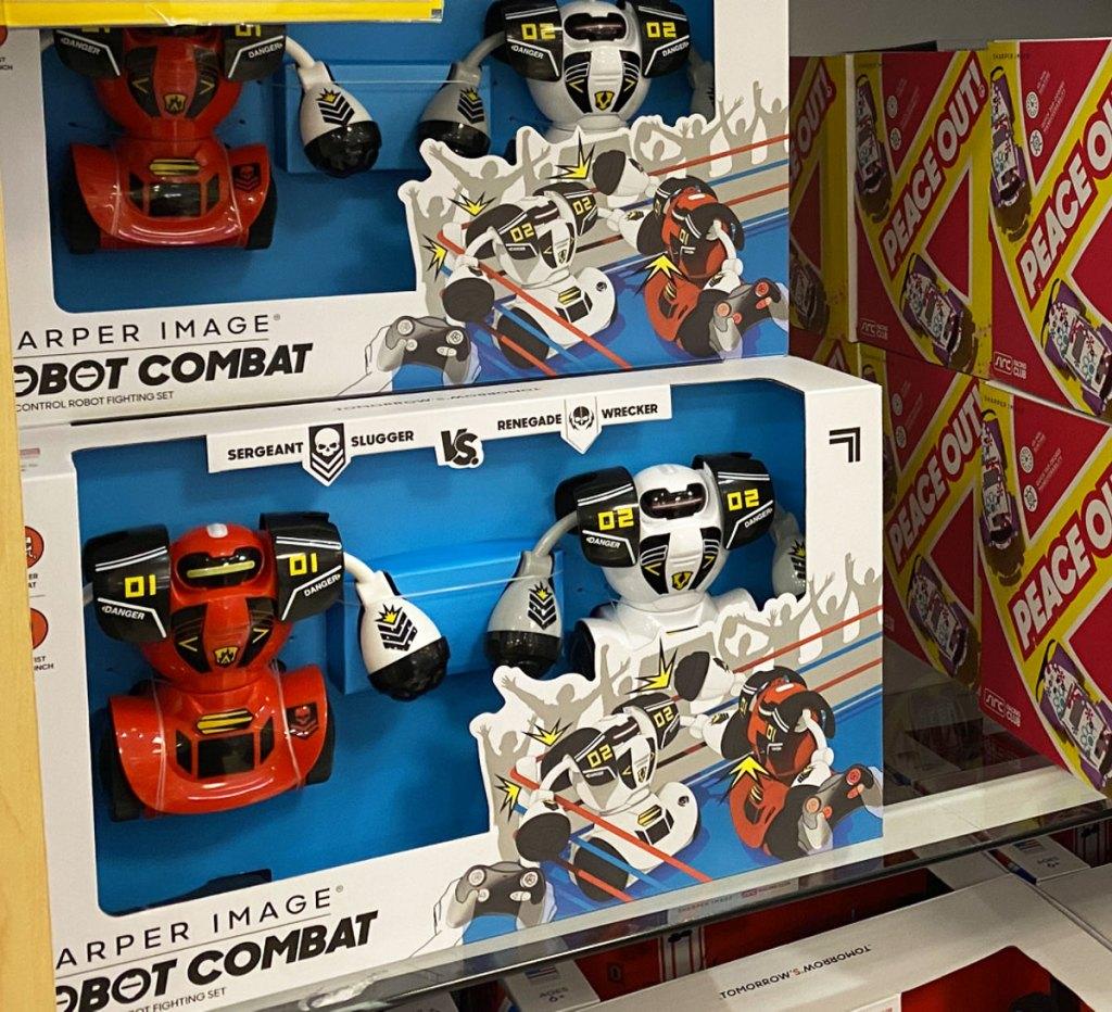 sets of sharper image RC toys on display shelf at belk