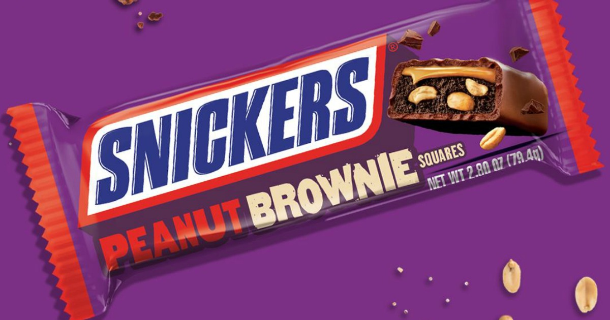 Snickers Brownie candy bar in wrapper