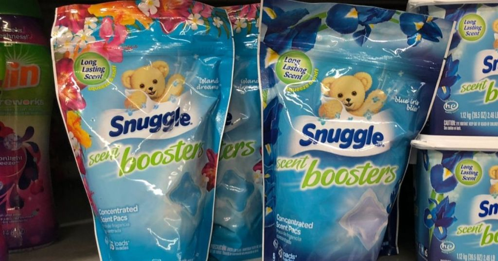 Snuggle Scent Boosters on Walmart Shelf