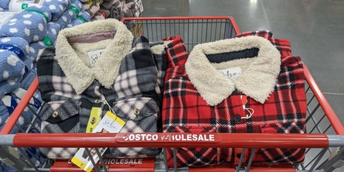 Women's Plush Flannel Jackets Only $14.99 at Costco