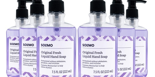 Solimo Liquid Hand Soap 6-Pack Only $8 Shipped on Amazon | Just $1.35 Each