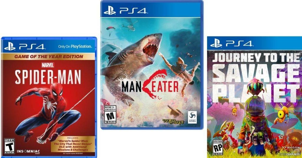 three playstation videogames