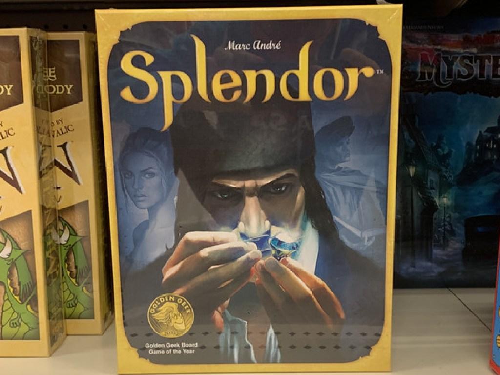 board games on store shelf