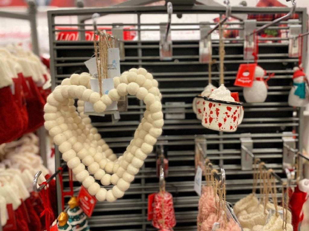 St Nicholas Square Ball Heart Wow Ornamen