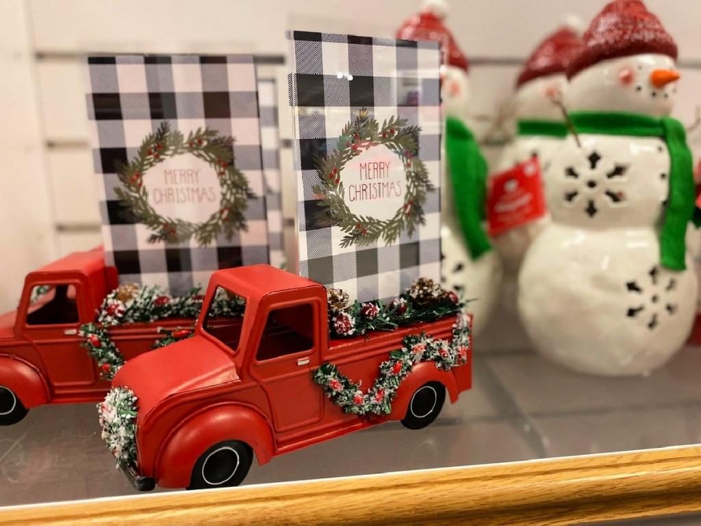 St. Nicholas Square Red Truck Christmas Photo Frame