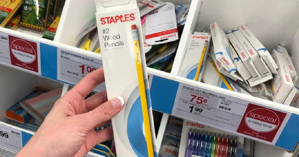 staples No. 2 Pencils