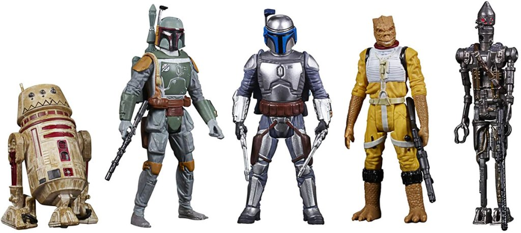 set of 5 star wars bounty hunters collectable figurines