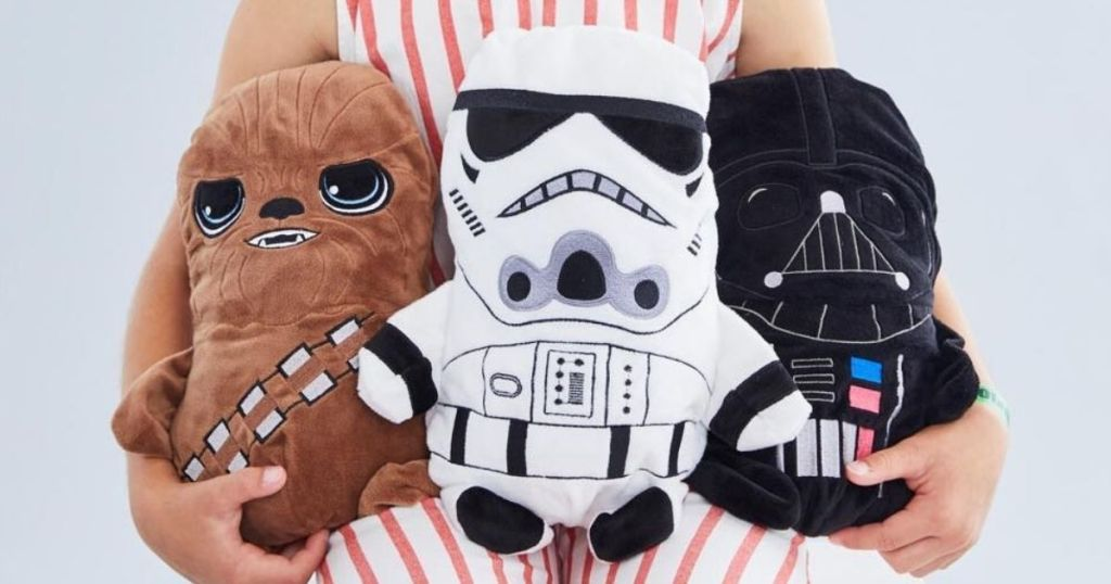 group of Star Wars plush characters