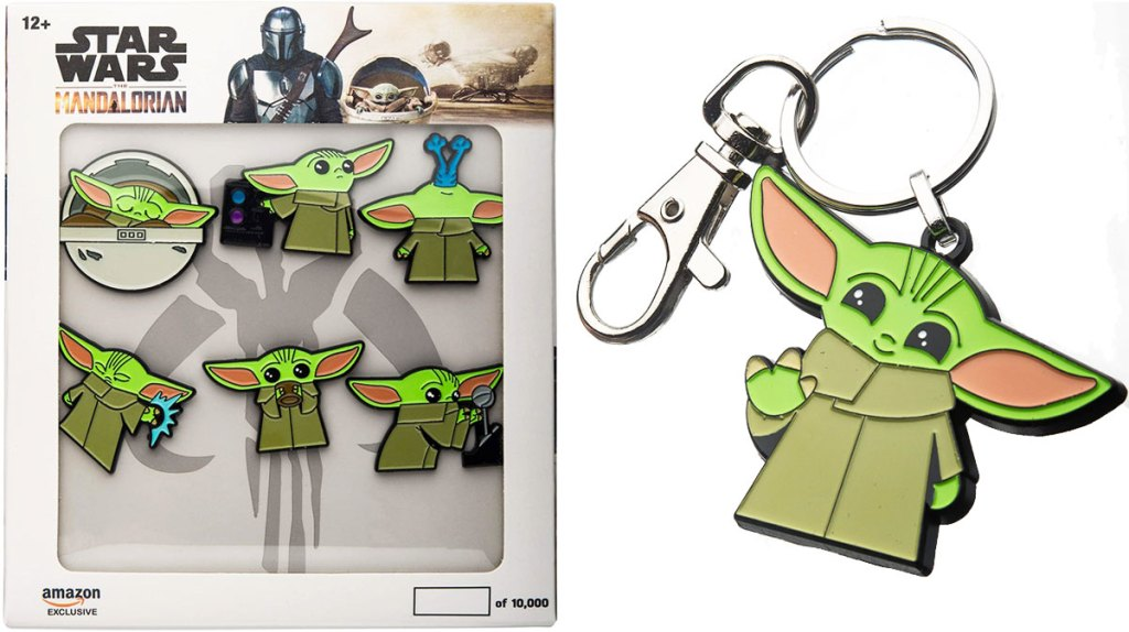 star wars the mandalorian the child enamel pin set and keychain