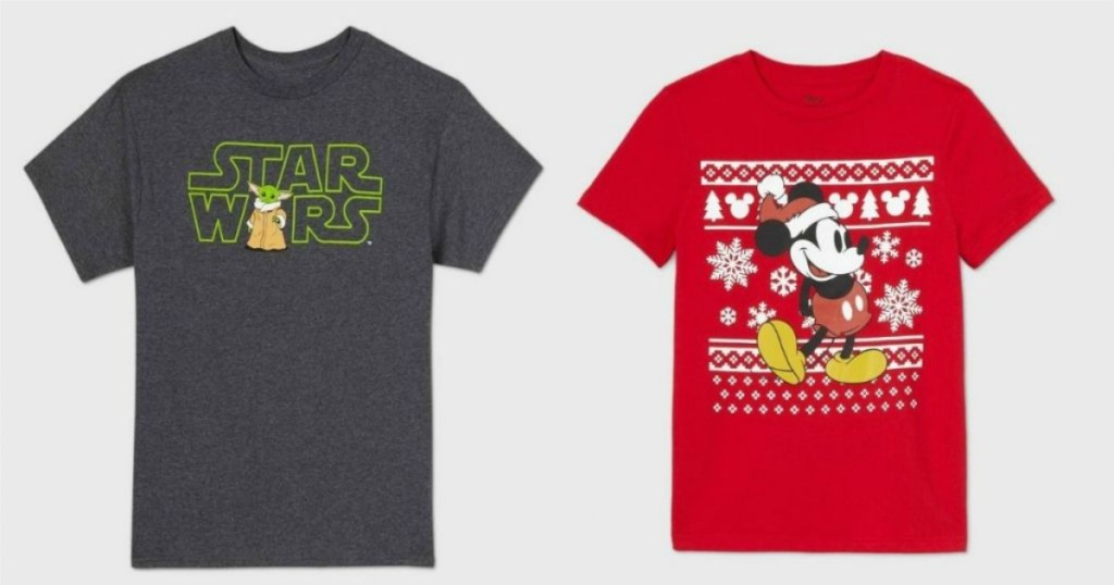 Star Wars and Mickey Graphic Tees