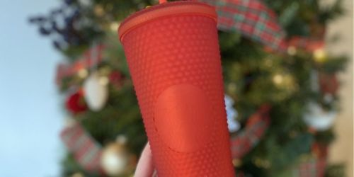 New Starbucks Matte Red Studded Tumbler | May Sell Out!