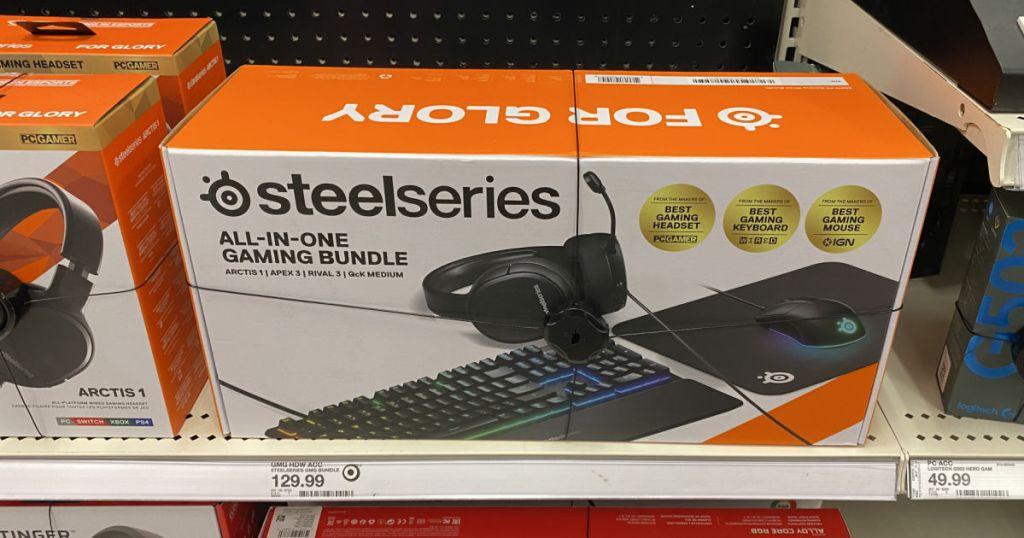 gaming bundle on shelf