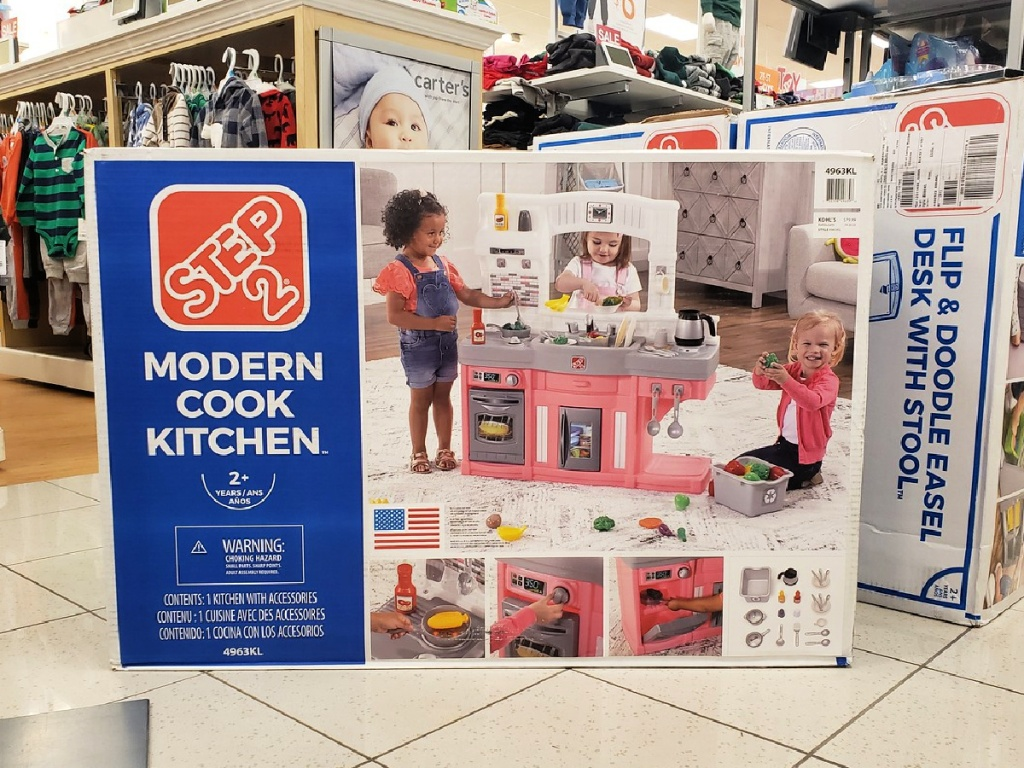 Step2 Modern Cook Play Kitchen Set in Pink