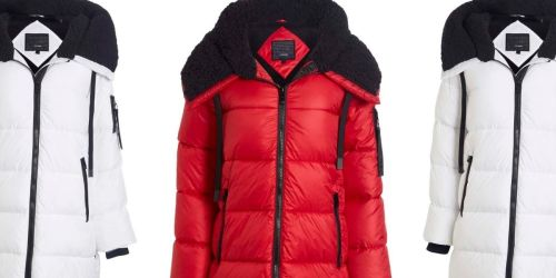 Steve Madden Women's Sherpa-Hood Puffer Jacket Only $34.99 on Zulily | Includes Plus Sizes