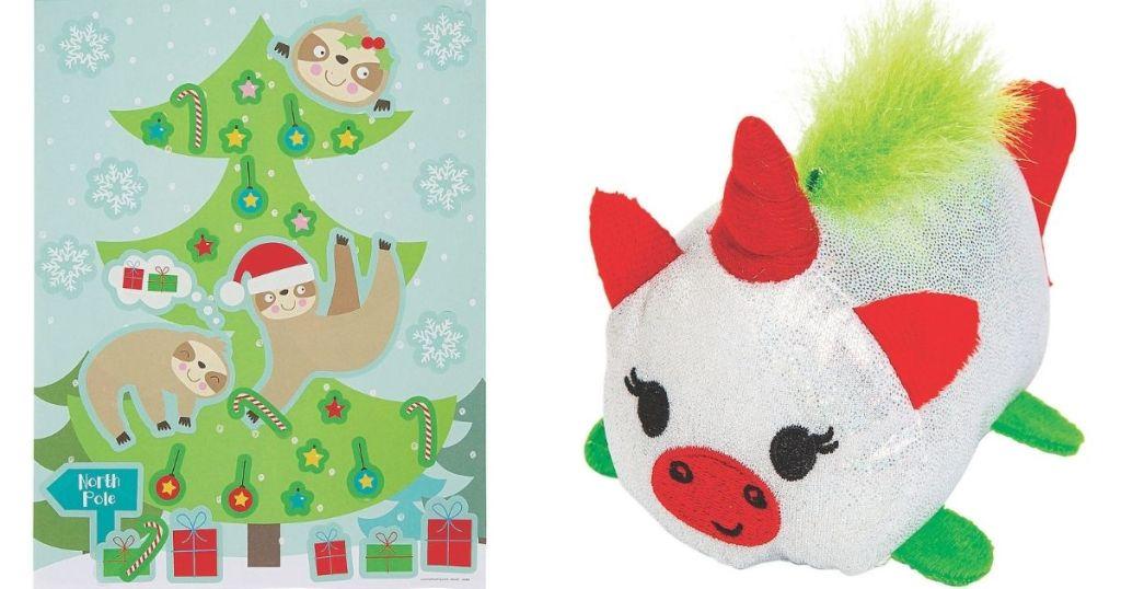 Stickers and Unicorn Plush