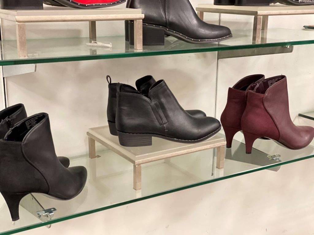boots on display at Macy's