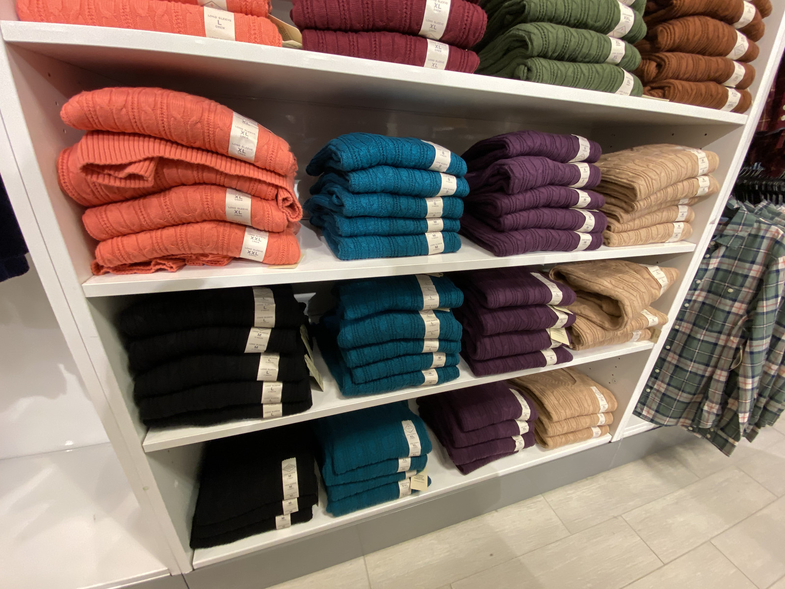 St john's bay sweaters on display at JCPenney