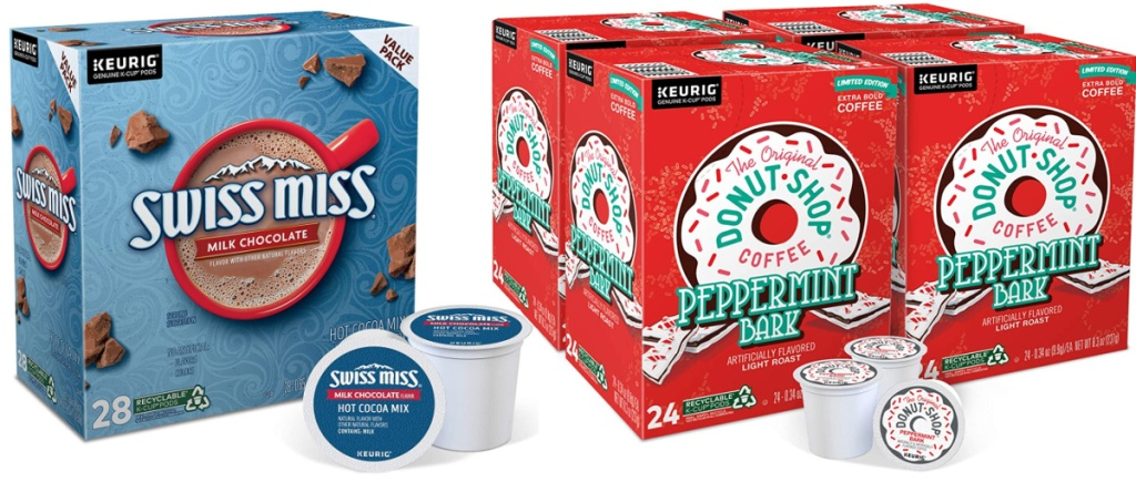 Swiss Miss K-Cups and The Original Donut Shop Peppermint Bark