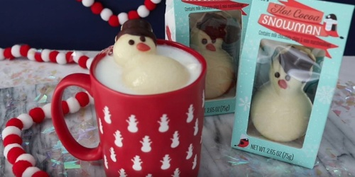 Trader Joe's Hot Cocoa Snowman May Be the Cutest Stocking Stuffer Ever (& It's Just $1.99)