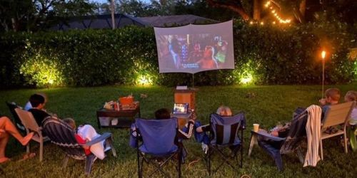 Projector & 100″ Screen Just $69.99 Shipped on Amazon | Upgrade Family Movie Night