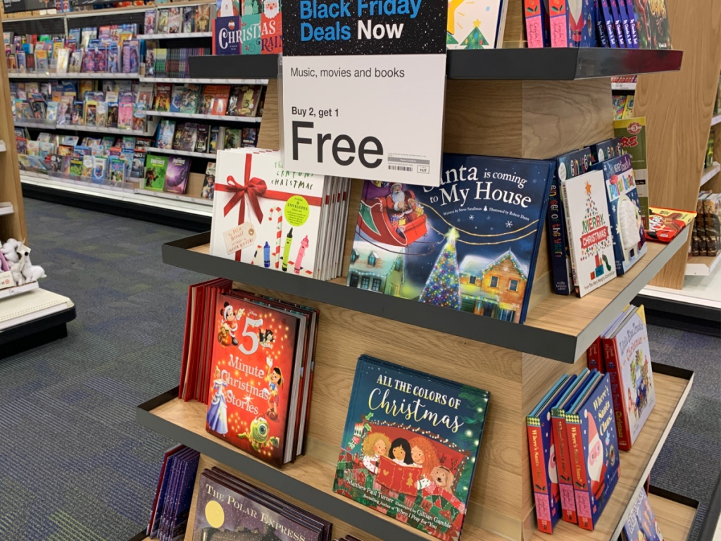 Christmas kidds books on display in store