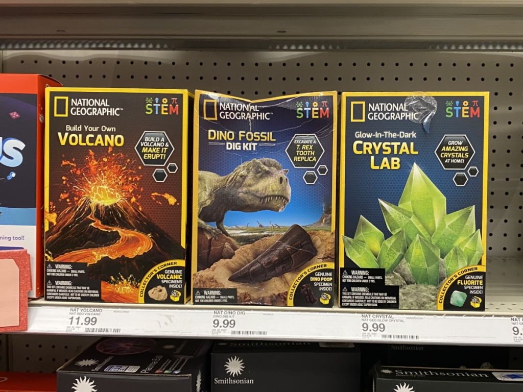 National Geographic STEM kits in store at target