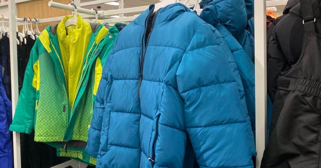 jacket on hanger at Target