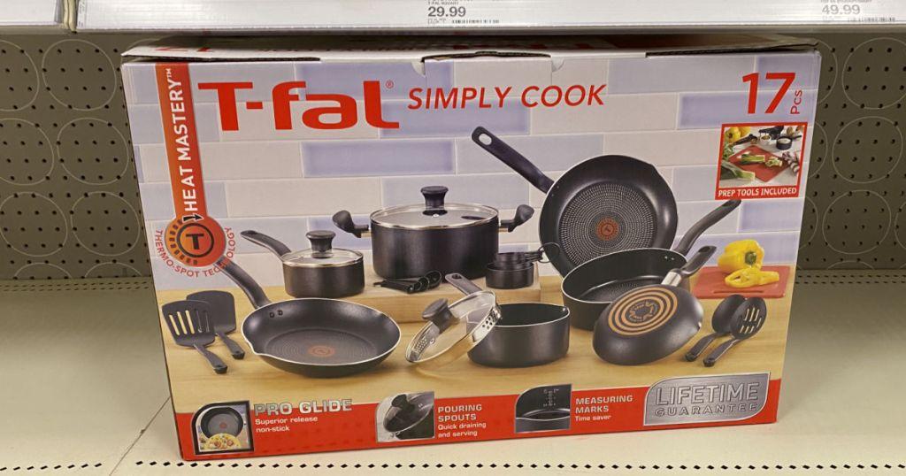 pan set on shelf