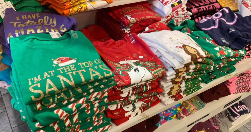 girls holiday graphic tees at The Children's Place
