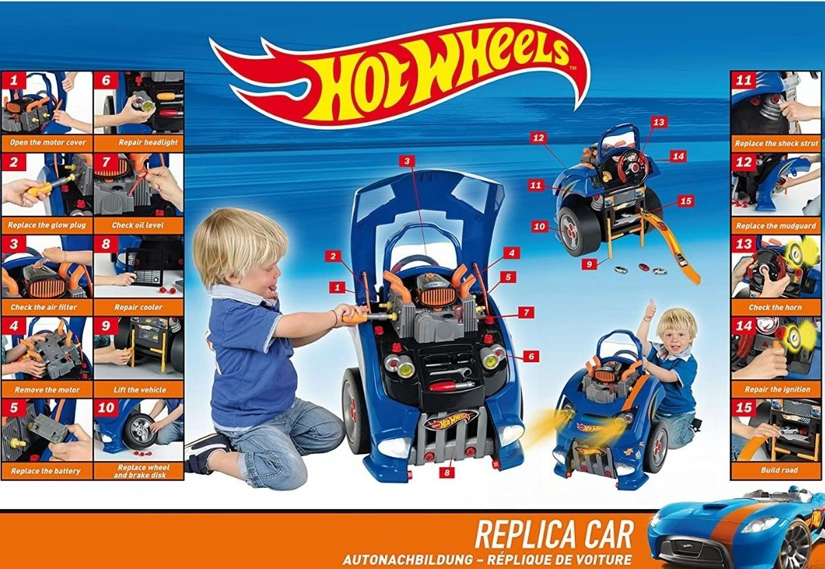 Hot Wheels Replica Car Playset Just 89 99 Shipped Regularly 140 Kids Can Repair The Engine More