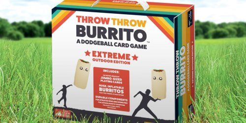 Throw Throw Burrito Outdoor Edition Only $14.99 on Amazon (Regularly $30) | Play Dodgeball w/ Inflatable Burritos