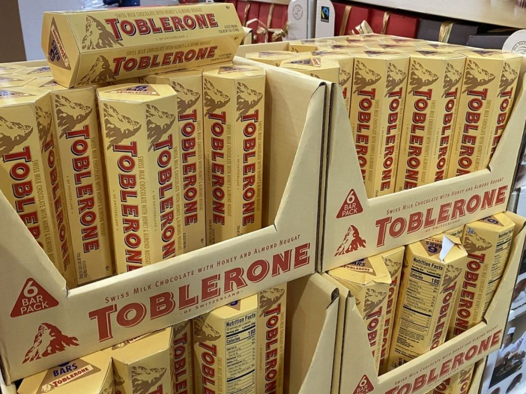 Toblerone Candy Bar 6-packs at Costco