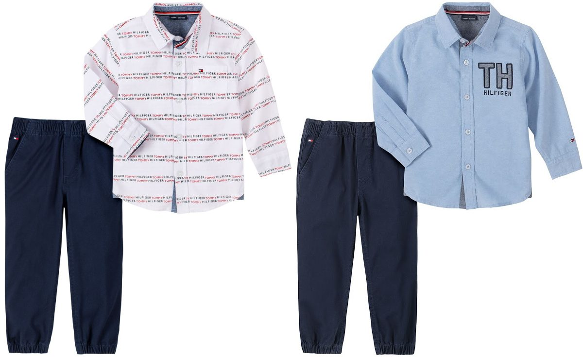 two baby boys clothing sets