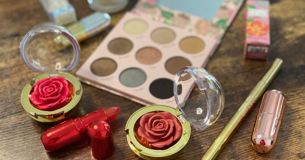 Winky Lux Makeup items on a table