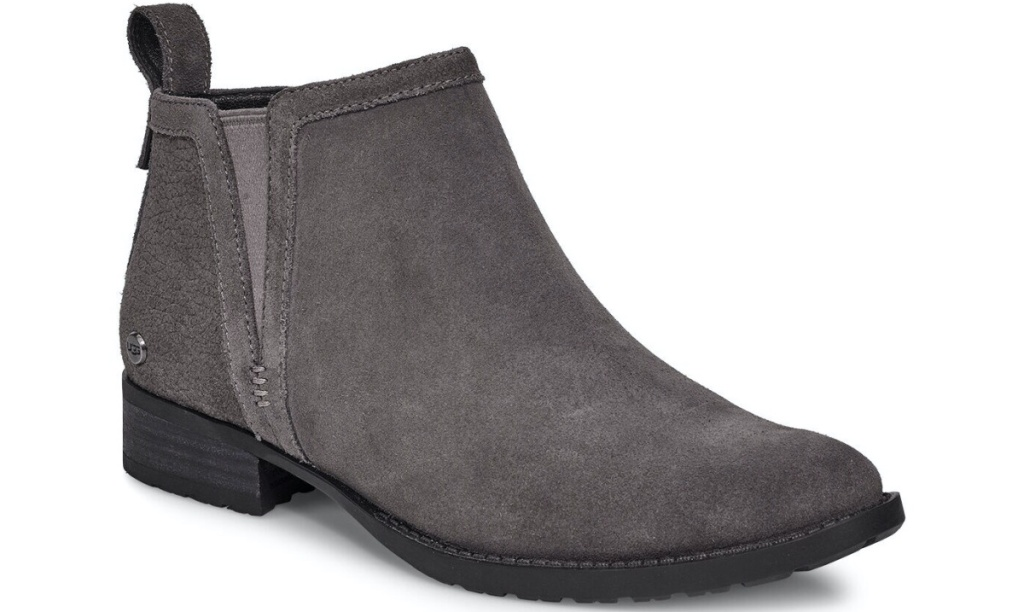 gray women's ankle boot
