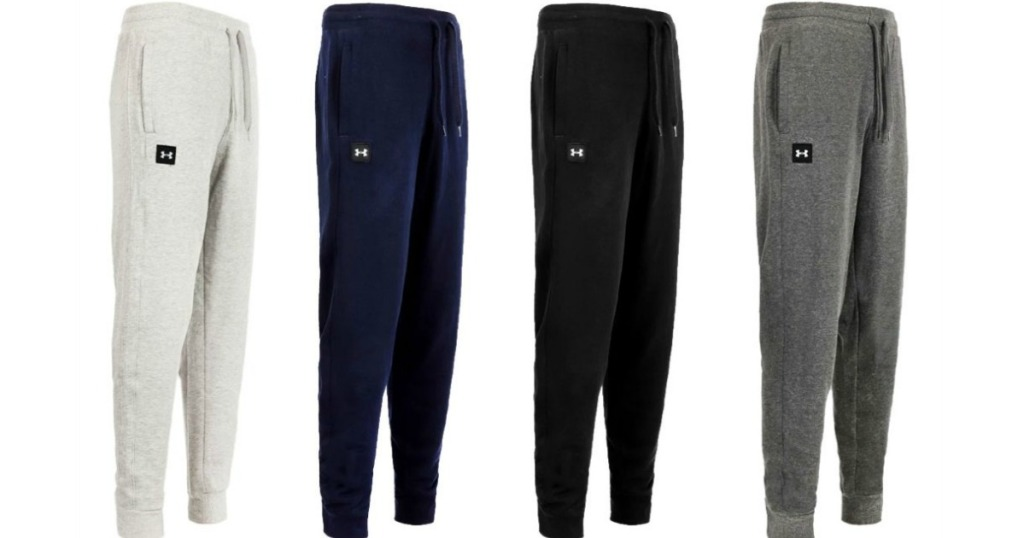 four pairs of jogger pants