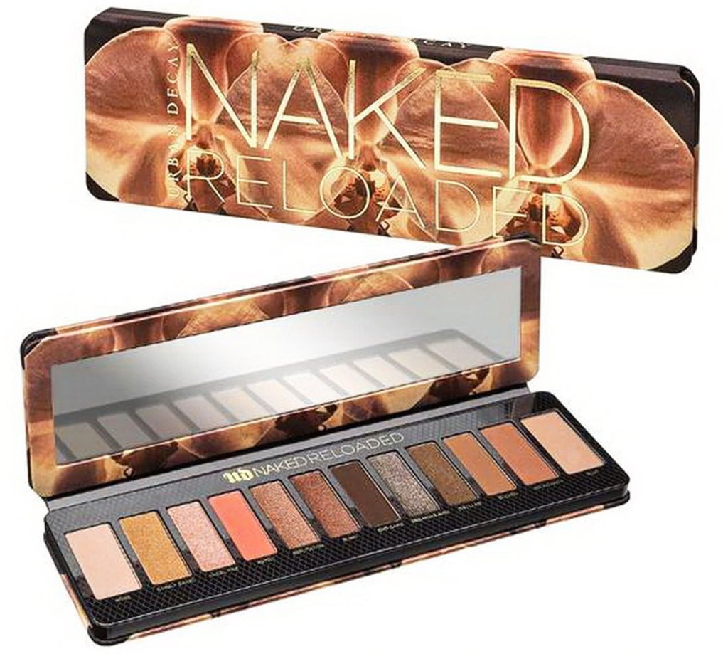 urban decay reloaded eyeshadow palette with red and brown eyeshadow shades