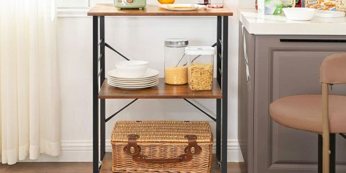 Rolling Kitchen Cart Just 44.99 Shipped on Amazon | Makes a Great Microwave Stand or Coffee Bar